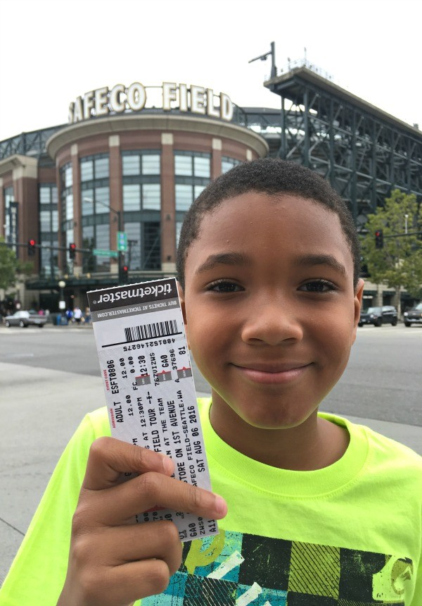 Kid is ready for a Safeco Field tour review, home of the Seattle Mariners