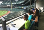 Press box at Safeco Field, home of the Seattle Mariners