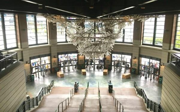Safeco Field art chandelier made of clear resin glass baseball bats