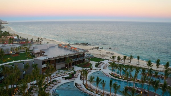 Sunset view over the Sea of Cortez at Grand Velas Los Cabos resort in Baja, California, Mexico