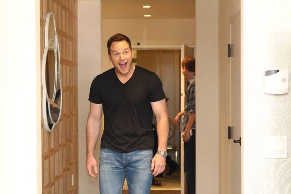 Chris Pratt at Marvels Guardians of the Galaxy vol 2 press day, The London Hotel, Los Angeles, CA
