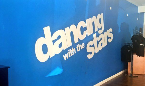Salsa dancing lesson with the Dancing with the Stars cast