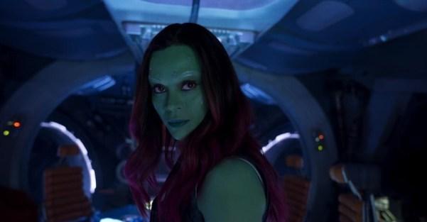 Guardians of the Galaxy Vol 2, Zoe Saldana is Gamora