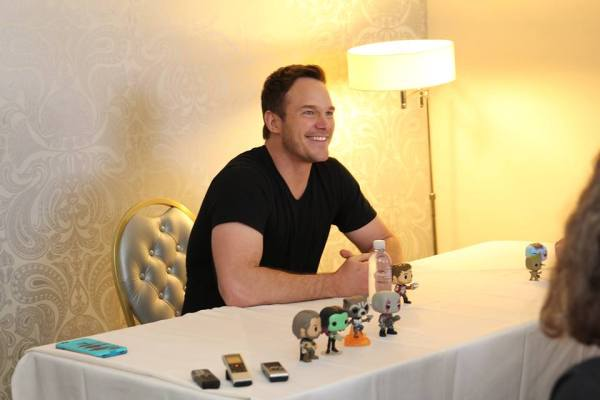 Interview with Chris Pratt at Marvels Guardians of the Galaxy Press Day, The London Hotel, Los Angeles, CA