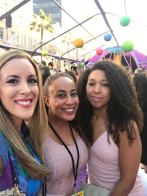 Marvel's Guardians of the Galaxy World premiere in Los Angeles, CA, Vera Sweeney, Leanette Fernandez, Deanna Underwood