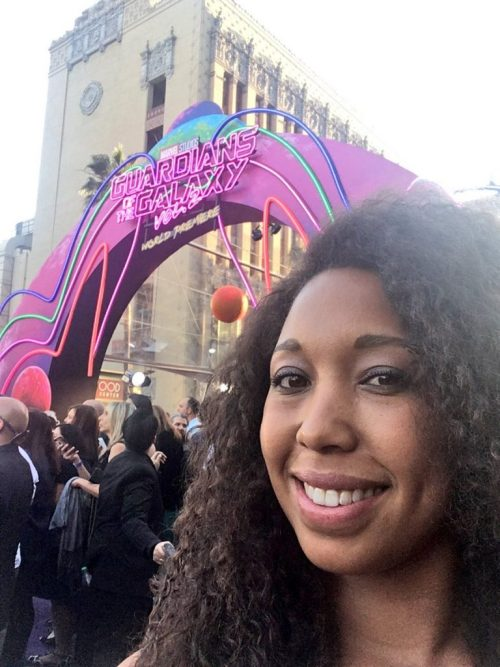 Marvel's Guardians of the Galaxy World premiere in Los Angeles, CA red carpet selfie