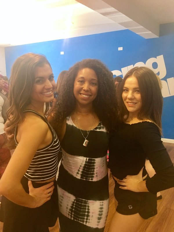 Salsa with the Dancing with the Stars cast, Hayley Erbert, Brittany Cherry