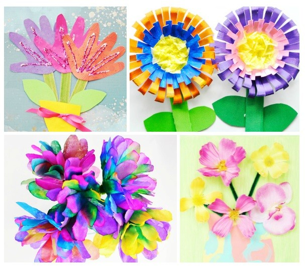 Spring time fun, easy flower crafts for kids