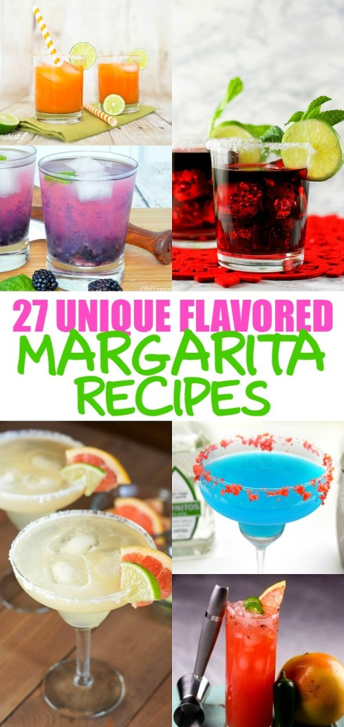 27 Fabulous Unique Flavored Margarita Recipes That You Have To Try! These are great adult drinks for parties, I can't wait to try them!
