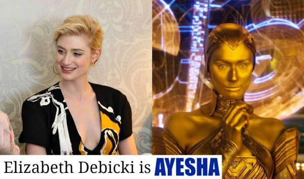 Guardians of the Galaxy Vol 2 new characters, Elizabeth Debicki is Ayesha