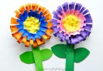Paper bowl flower craft