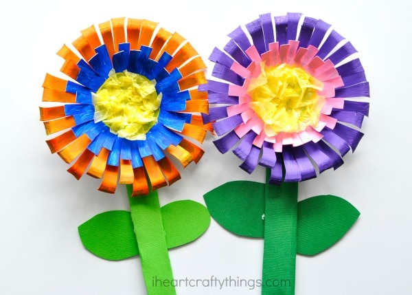 Paper bowl flower craft