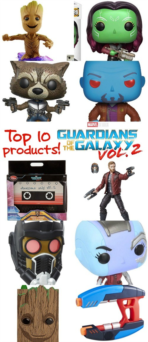 Top 10 Marvel Guardians of the Galaxy 2 Merchandise and Toys We LOVE