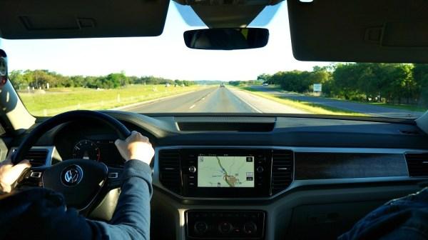 2018 VW Atlas SUV front dash interior with navigation