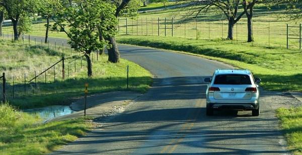 Driving the 2018 VW Atlas in Boerne, Texas