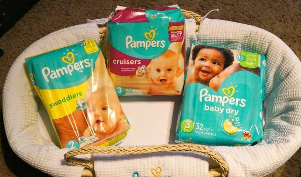 Pampers Cruisers, Swaddlers, and Baby Dry diapers
