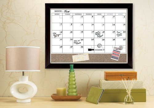 The best dry erase magnetic calendar with cork board for a command center