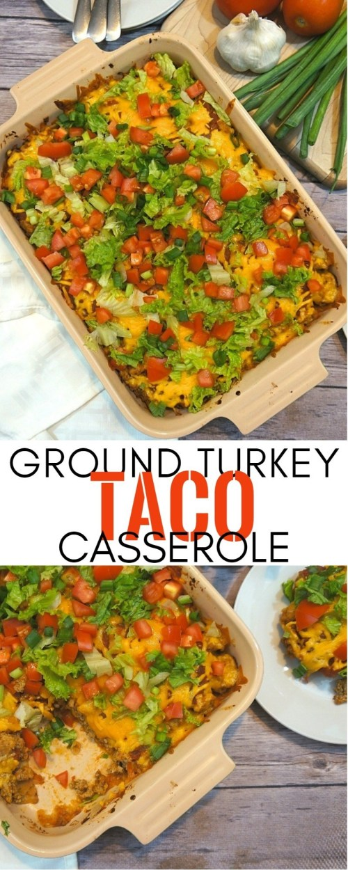 This Easy Turkey Taco Casserole Recipe Saves Our Weeknight Dinners | Ground Turkey Casserole | honeyandlime.co
