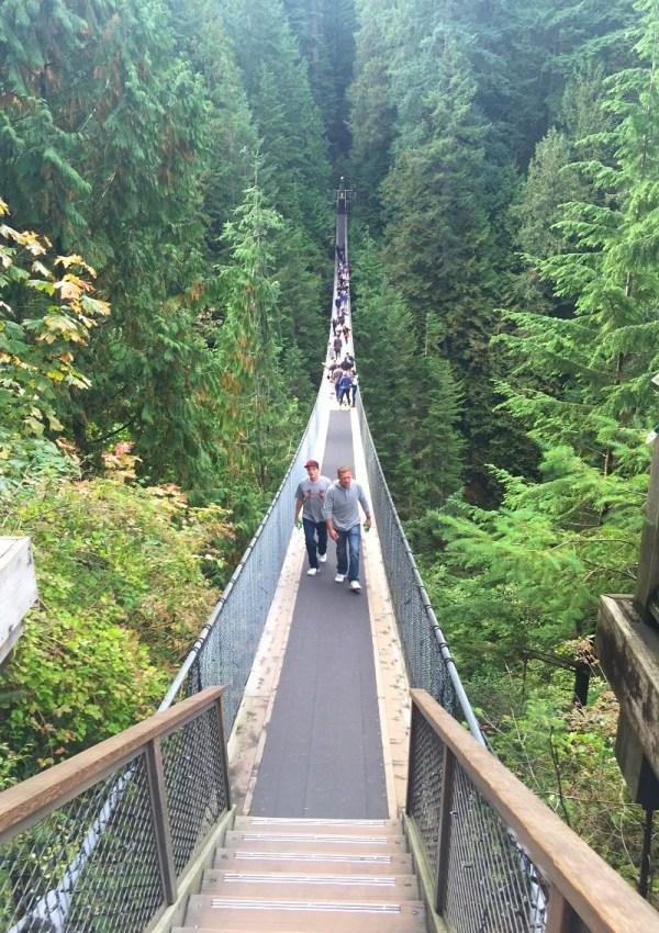 Capilano Suspension Bridge in Vancouver BC Canada