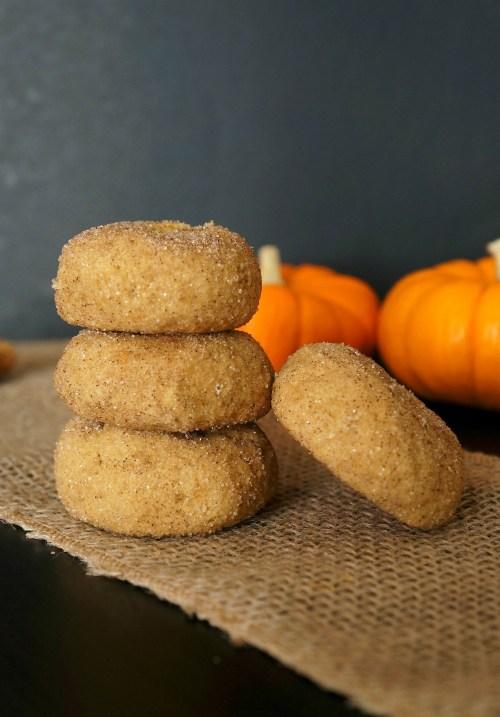Soft pumpkin cookies - gluten free pumpkin desserts, pumpkin snickerdoodles cookies