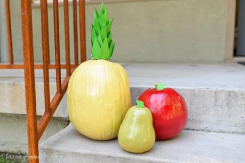 No carve fruit pumpkins Hey Lets Make Stuff