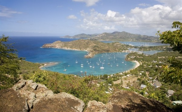 View of Antigua Island from Shirley Heights Lookout