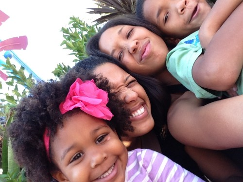 Beautiful black family gathering