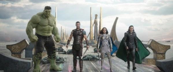 Thor Ragnarok, characters Hulk, Thor, Valkyrie, Loki