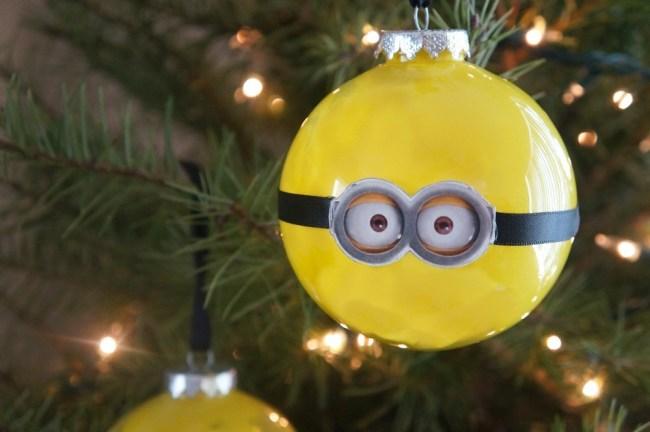 Cute Despicable Me Minion Christmas ornaments DIY