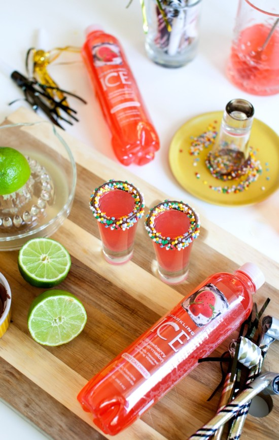 New Years Eve drink ideas vodka sparkle shots long image