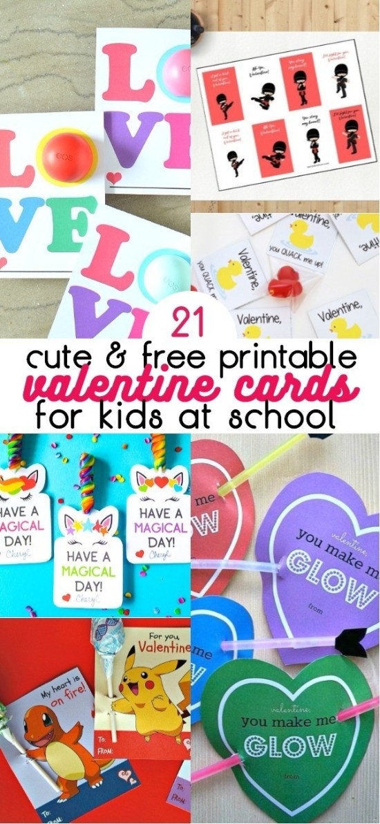 21 Cute and Free Printable Valentine Cards For School - Love These Classroom Valentines for Kids | valentine cards for kids | valentine cards for classmates | valentines day cards for school | classroom valentines | printable valentine cards for school | free printable valentines day cards | kids classroom valentines | honeyandlime.co