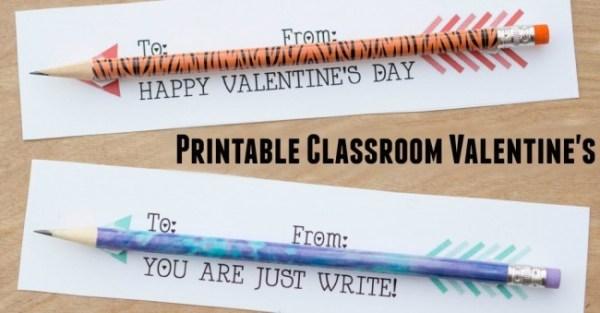 Pencil arrows classroom Valentines - A Moms Take