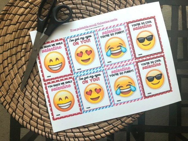 free printable emoji valentine cards - Honey + Lime