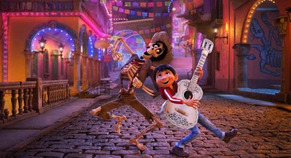 Disney Pixar Coco movie still, Hector and Miguel
