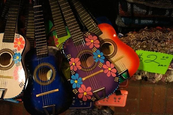 Souvenir guitars on Olvera Street in Los Angleles