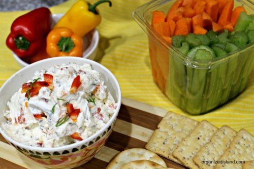 Vegetable cream cheese dip
