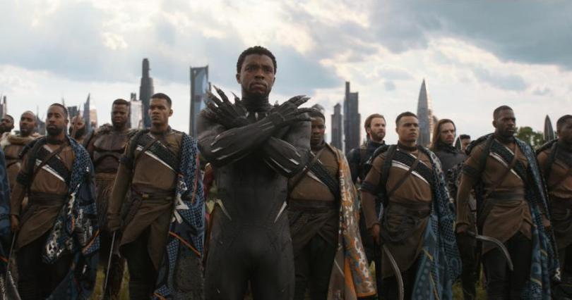 Avengers Infinity War Black Panther and army in Wakanda