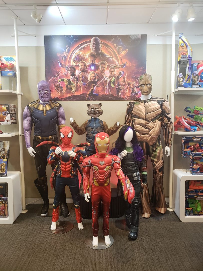 Avengers Infinity War costumes - Thanos costume, Groot teenage costume, Kids Iron man costume, Rocket costume, Kids Gamora costume, kids Spider Man costume