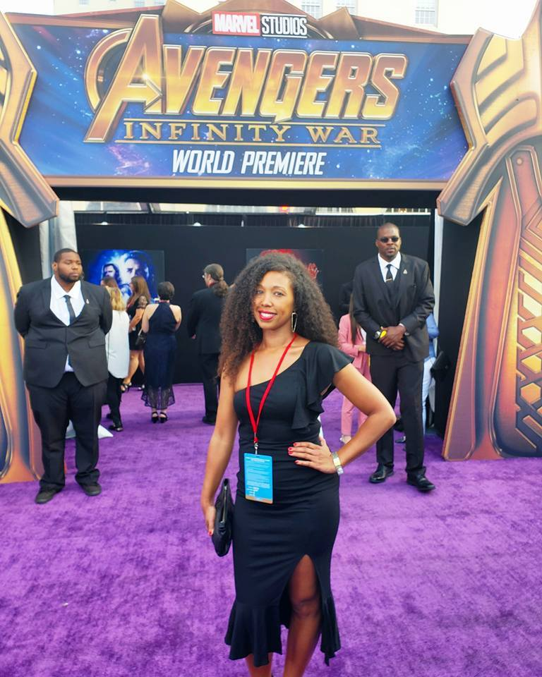 Deanna Underwood at the Avengers Infinity War movie premiere