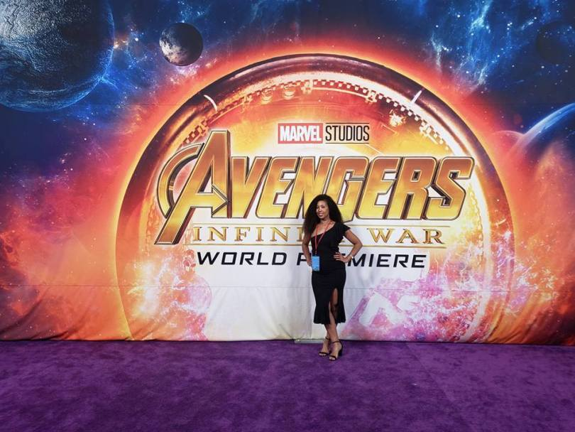 Deanna Underwood inside the Avengers Infinity War movie premiere