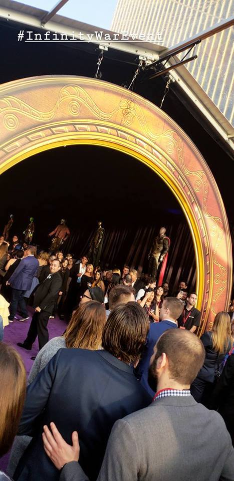 Entrance to the dispaly area at the Avengers Infinity War movie premiere