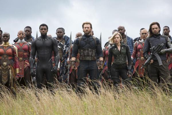InfinityWar Black Panther, Captain America, Black Widow, Winter Soldier, Dora Milaje