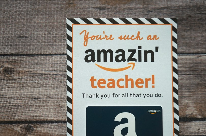 You're an Amazin' teacher - a printable teacher appreciation card