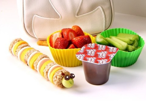 Make ahead school lunch ideas - Caterpillar lunch
