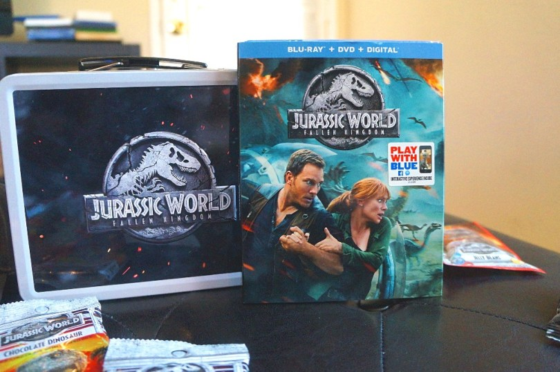 Jurassic World: Fallen Kingdom Blu-ray and DVD with bonus features