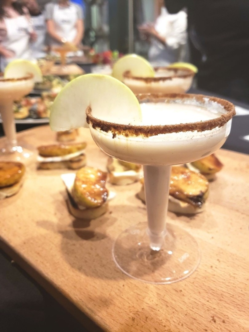 Fall Chai martini mocktail and apple brie bites with NOW Foods