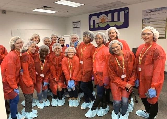 NOW Foods brand ambassadors at the NOW manufacturing headquarters Bloomingdale IL