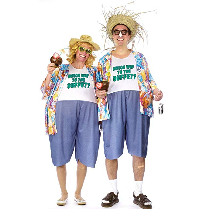 Vacationing tacky travel couples costume