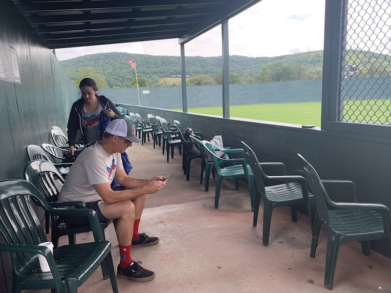 Seating area for families at Dreams Park Cooperstown