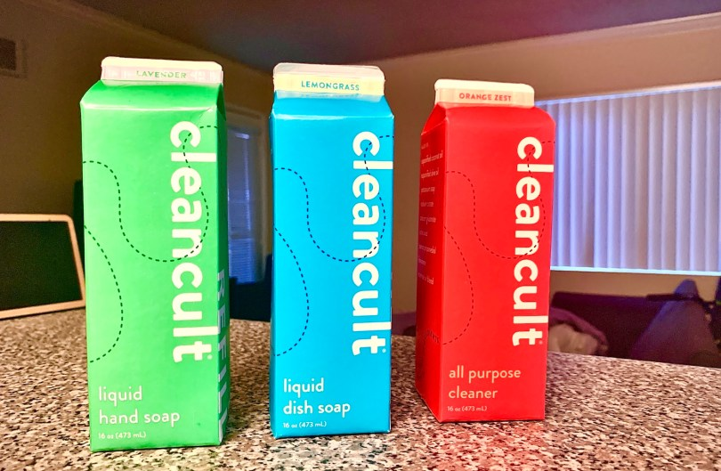 cleancult refillable soap cartons delivered to your door